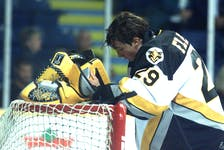 Marc-André Fleury put Cape Breton Island on the major junior hockey map when the Pittsburgh Penguins drafted the goaltender with the No. 1 overall selection at the 2003 NHL Entry Draft. CAPE BRETON POST PHOTO.