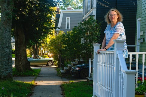 Peggy Walt poses for a photo on the front porch of her home near Dalhousie on Monday, Sept. 27, 2021. Walt says while there have been problems with students partying before, this year has been particularly bad. Ryan Taplin - The Chronicle Herald
