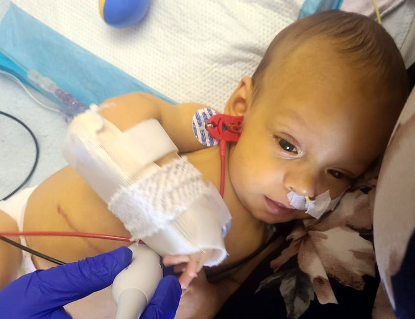 Baby Owen LeBlanc of Yarmouth is in desperate need of a liver transplant. Contributed