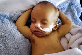 Owen LeBlanc of Yarmouth, four months old when this picture was contributed, is in desperate need of a liver transplant. CONTRIBUTED PHOTO