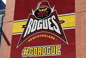 """This logo was included on a social media post from an American agency representing athletes saying  one of its clients has signed to play for the """"Newfoundland Rogues."""" The American Basketball Association team that will play out of Mile One Centre in St. John's has scheduled a media event for Wednesday at Mile One to officially unveil the team name, logo and jersey as well introduce the head coach. — Facebook/@GlobalSportsAndEntertainment"""