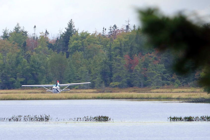 No one was injured after a pilot had to make an emergency landing in Turf Lake, near the Stanfield International Airport Tuesday afternoon. The pilot says the engine of the Cessna 205 float plane died as he was close to the approach to the airport.