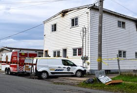 One person is dead after a fire Tuesday morning at a New Waterford house. The fire happened around 5:30 a.m. on Miner Avenue in the community. Investigators were on scene throughout the day. CAPE BRETON POST PHOTO.