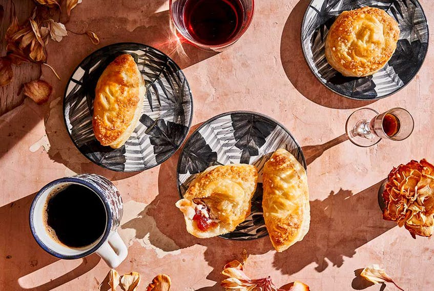 Pastel 'Gloria' (guava paste and feta cheese pastries) from Colombiana.