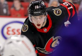Ottawa Senators right wing Drake Batherson.
