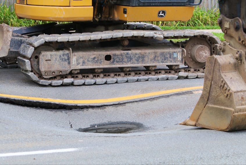 Sept 3, 2021 - A water main break forced the closure of Quinpool Road on Friday morning. - Eric Wynne