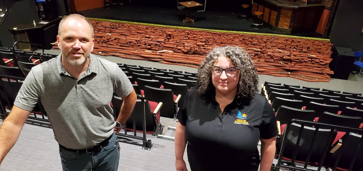 Candidates vying to be the next member of parliament for Egmont will have a chance to debate the issues at an upcoming event organized by College of Piping and Celtic Performing Arts Centre, the Greater Summerside Chamber of Commerce and the Journal Pioneer. Brad Works, regional managing editor of the Journal Pioneer and The Guardian and Tara Maddix, executive director of the chamber of commerce, visited the venue at the college ahead of time to look over the facility.