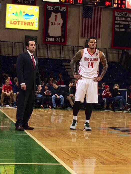 Scott Morrison of Morell served as head coach of the Maine Red Claws of the NBA D-League from 2014 to 2017. Morrison was named the league's coach of the year for the 2014-15 season. - Scott Morrison/Special to The Guardian