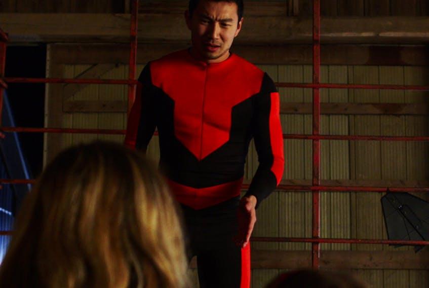 Simu Liu as the Crimson Defender.