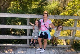 Heather Fegan and her daughters pose for a photo during a hike along St. Margaret's Bay Trail. Part of the broader Rum Runners Trail, it's the perfect trail to hop on and off depending on how much time you have.