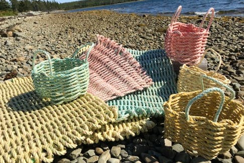 Gwenda Garrett has always been drawn to the sea, and enjoys lobster fishing with her husband. She began her hobby of creating rope mats and baskets out of a desire to find a new use for deteriorated rope.