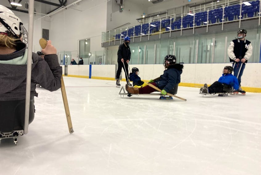 The Learn to Sledge program teaches youth in Pictou County how to sledge, which is an adaptive form of skating.