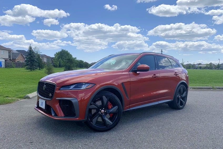 The luxurious 2021 Jaguar F-Pace SVR may not be for everyone, but it's a nice thing to want or be able to afford. Renita Naraine/Postmedia News