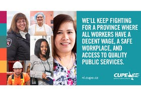 """CUPE Newfoundland Labrador President Sherry Hillier says she and the union are saying thank you to CUPE members, friends, allies and to all frontline workers. """"We salute you,"""" she says. - Photo Courtesy CUPE NL."""