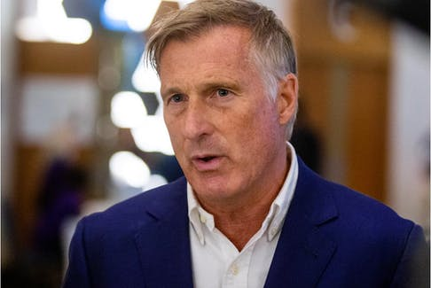SASKATOON, SK--AUGUST 2/2021 - The People's Party of Canada Leader Maxime Bernier speaks to media at a campaign rally in Saskatoon, SK on Thursday, September 2, 2021.