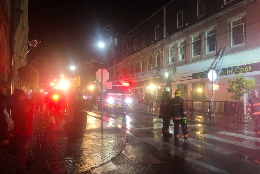 The New Glasgow Fire Department was called to a commercial structure fire in downtown New Glasgow Monday evening, Sept. 6.