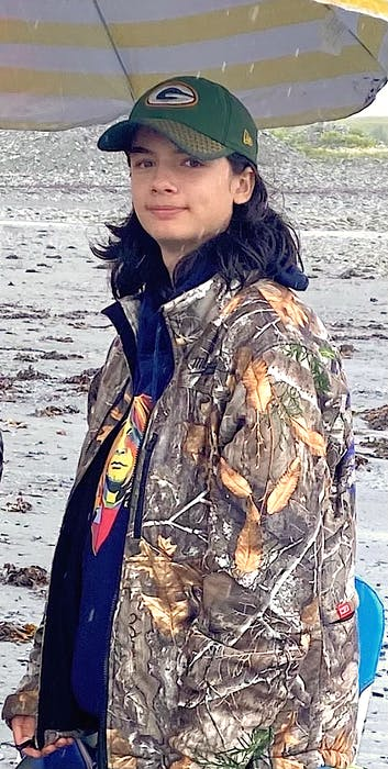 Jackson Fortin, 14, of Quebec City, while out fishing with family during a recent visit to Cape Breton. Uncle David Fletcher of Dominion said his nephew and niece saved many lives through organ donation after tragically being killed in a motor vehicle accident in Quebec City on Sept. 2. - CONTRIBUTED