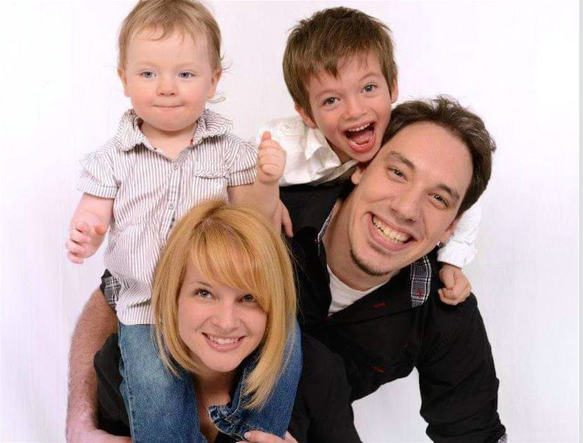 Shellie Fletcher-Lemieux, bottom left, formerly of Dominion, who was living in Quebec City, with her husband Jean-Dominic Lemieux and children Emma Lemieux, 10, and Jackson Fortin, 14, in a family photo taken about eight years ago. Shellie and her two children, as well as her father Jim Fletcher, Dominion, were all killed in a tragic motor vehicle accident in Quebec City on Sept. 2. - CONTRIBUTED