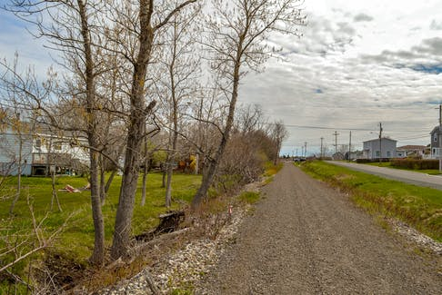 Certain sections of the Coal Town Trail pass close to backyards. Joseph Campbell and Mazzocca say residents in these areas are being bothered by both the noise and dust from ATV riders. JESSICA SMITH/CAPE BRETON POST