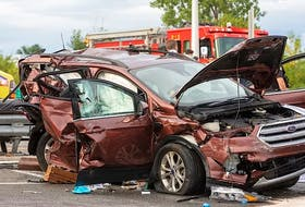 The vehicle being driven by Jim Fletcher of Dominion involved in a three-vehicle accident on Sept. 2 during a trip to visit family in Quebec City. The accident killed Fletcher, his daughter Shellie Fletcher-Lemieux and his grandchildren Emma Lemieux, 10, and Jackson Fortin, 14. CONTRIBUTED