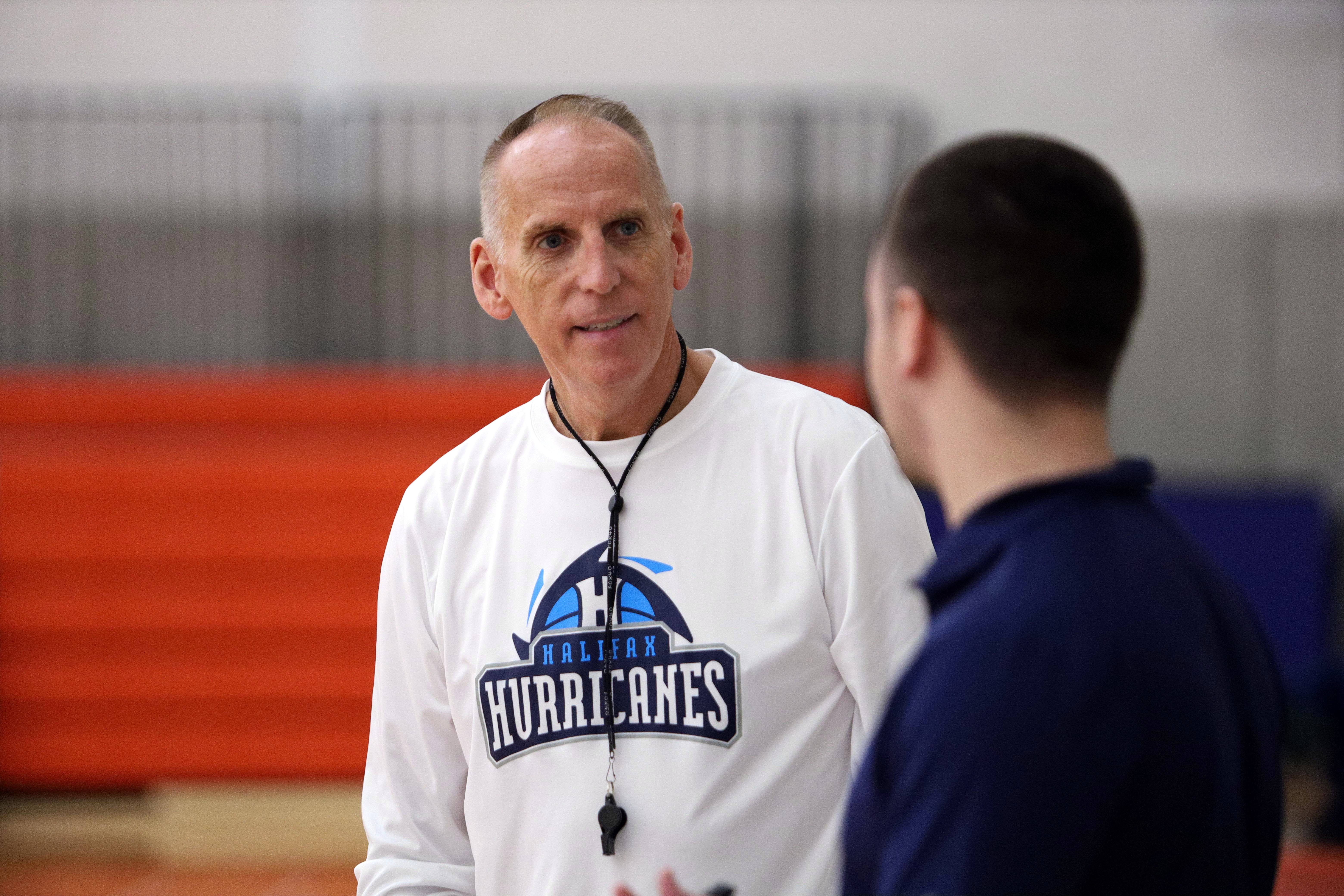 Former Halifax Hurricanes head coach Mike Leslie, seen here during the NBL Canada team's practice in 2019, has taken over the head coaching position with the Acadia Axemen on an interim basis. - ERIC WYNNE / The Chronicle Herald