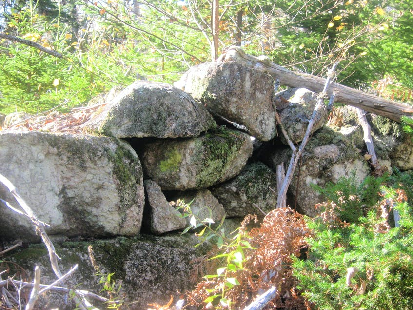 Remains of stone walls from the Loyalist days. - Contributed