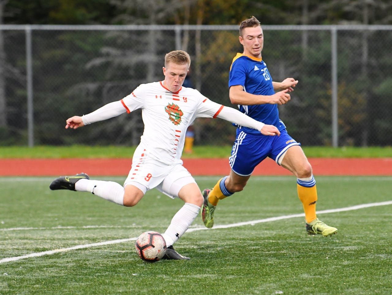 Cape Breton University forward Charlie Waters and his Capers teammates make their return to the pitch for the first time in 21 months. The Atlantic university soccer season opens this weekend. The 2020 AUS campaign was cancelled due to the COVID-19 pandemic. - VAUGHAN MERCHANT / CBU ATHLETICS