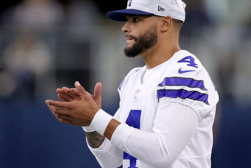 Dallas Cowboys quarterback Dak Prescott is back in action. He'll take on Tom Brady and the Super Bowl champion Tampa Bay Buccaneers.