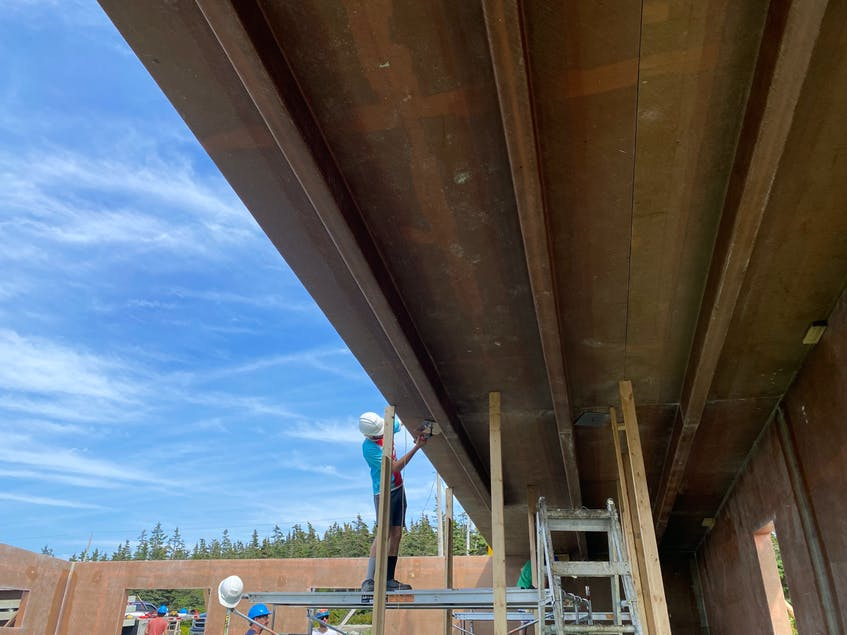 The fifth building for JD Composites under construction in Sandford, .CARLA ALLEN • TRI-COUNTY VANGUARD