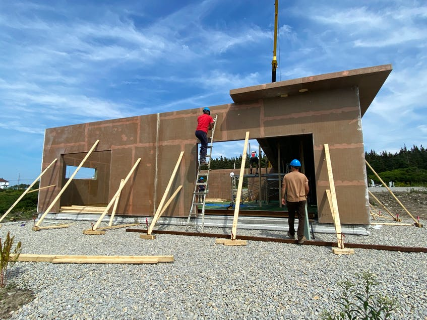 The fifth building for JD Composites under construction in Sandford CARLA ALLEN • TRI-COUNTY VANGUARD