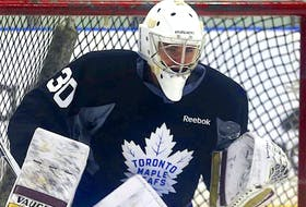 Goaltender and Ian Scott turned pro with the Toronto Maple Leafs organization in 2019, but has appeared in only six games since then. — Postmedia file photo/Jack Boland