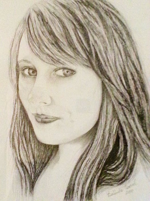 """Belinda Conrad loves working in charcoal. """"To capture a person's feelings in their eyes, and the expression on their face is priceless,"""" says Conrad. - Contributed"""