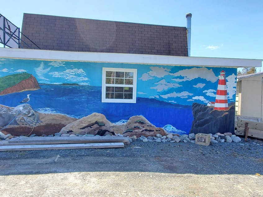 The mural project is still a work in progress, says Belinda Conrad. - Contributed