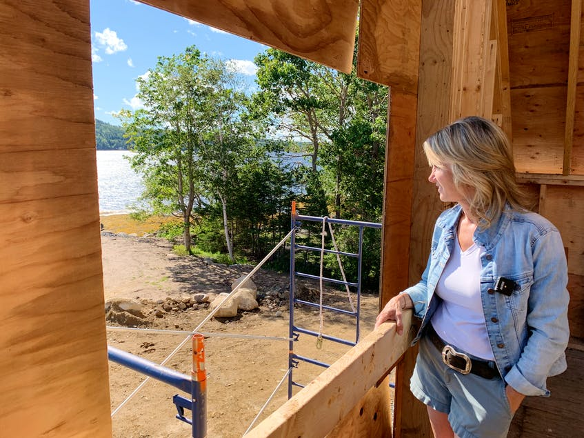Kimberly Harrison will have quite the view once her house in East LaHave is finished. - Jen Taplin