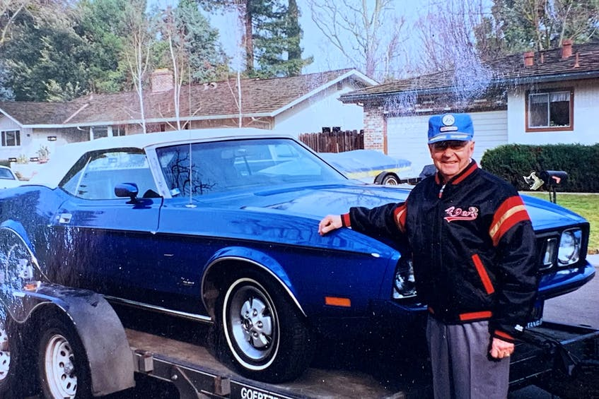 Elwin Engdahl, 81, says goodbye to the 1973 Mustang he owned for 25 years. Contributed - POSTMEDIA