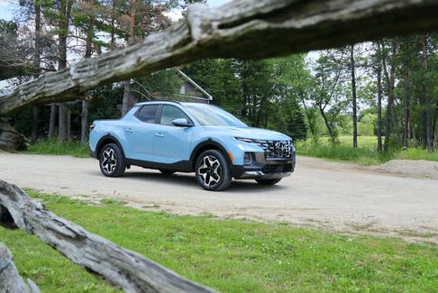 Despite having a bed and a tonneau cover, Hyundai's reps say they don't consider the 2022 Santa Cruz a truck. Jil McIntosh/Postmedia News