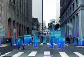 This image shows radar pedestrian detection. Handout/Arbe