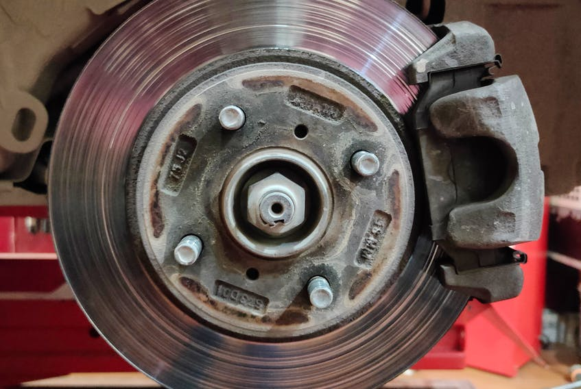 Popping a set of new brake pads on an older rotor with rusted edges and glazed surfaces is almost guaranteed to cause unwanted noise. The DK Photography photo/Unsplash