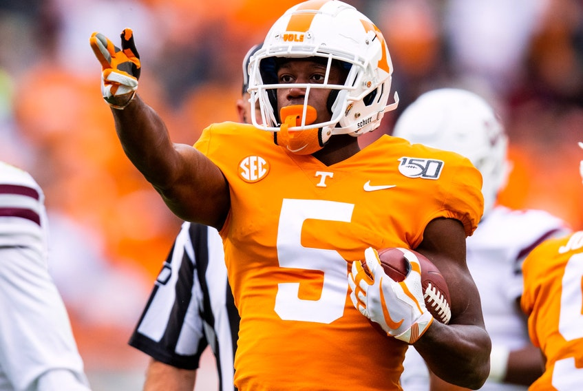 Brampton's Josh Palmer, of the Tennessee Volunteers, has entered the NFL draft.