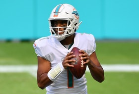 Miami Dolphins quarterback Tua Tagovailoa drops back to pass last season.