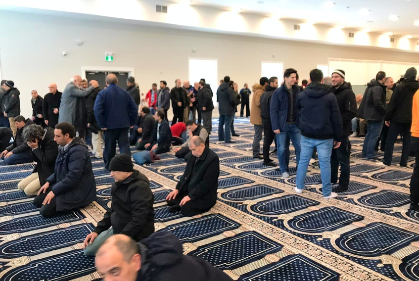 People gather at the Nova Scotia Islamic Community Centre in Bedford in this file photo. This year, the mosque and several others across the province will be closed during Ramadan.