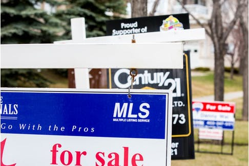 For Sale signs in Calgary, Alberta