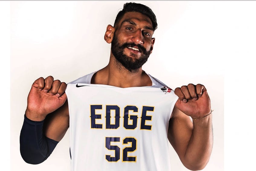 The story of professional basketball player Satnam Singh, the first Indian drafted by an NBA team and who played for the St. John's Edge last season, will be the subject of an online movie being developed in India. — St. John's Edge photo