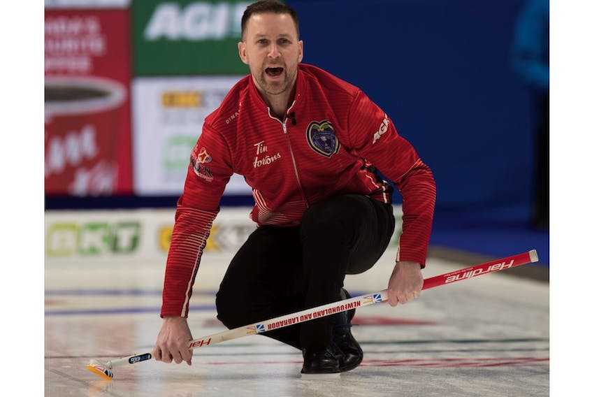 On Friday, Brad Gushue and his Newfoundland and Labrador rink split their last two games in the championship pool of the 2020 Tim Hortons Brier, beating Mike McEwen's Wild Card team and losing to Saskatchewan and Matt Dunstone. That left Gushue with an 8-3 record, tied with Saskatchewan for the second-best record in the pool, but Dunstone got second place because of his Friday win over Gushue.