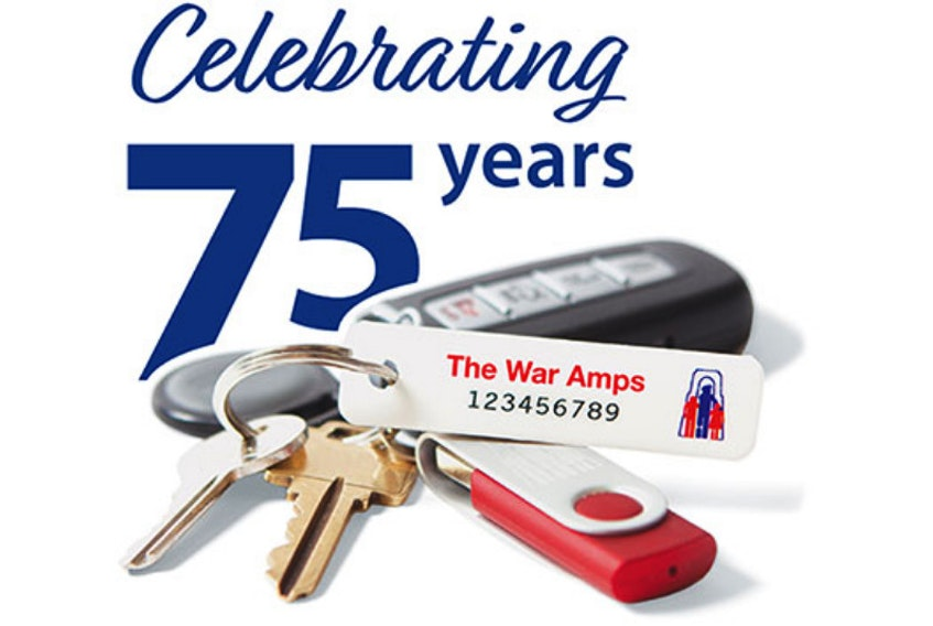 The War Amps key tag service is celebrating its 75th anniversary this year.