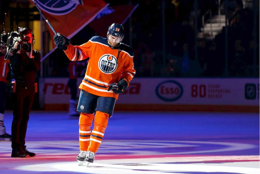 Edmonton Oilers' Leon Draisaitl won the Art Ross Trophy.