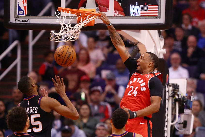 Toronto Raptors guard Norman Powell throws down a dunk earlier this season. The NBA and the NBPA announced Friday an agreement on a return to play in Orlando, Fla.
