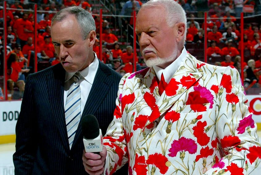 Once the servile Ron MacLean, left, crawled into the seat opposite Don Cherry, right, on Coach's Corner, Cherry was free to play the bully boy without fear of contradiction, Jack Todd writes.