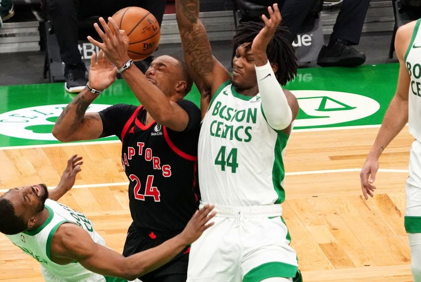Raptors guard Norman Powell has been putting up huge numbers since being inserted into the starting lineup.