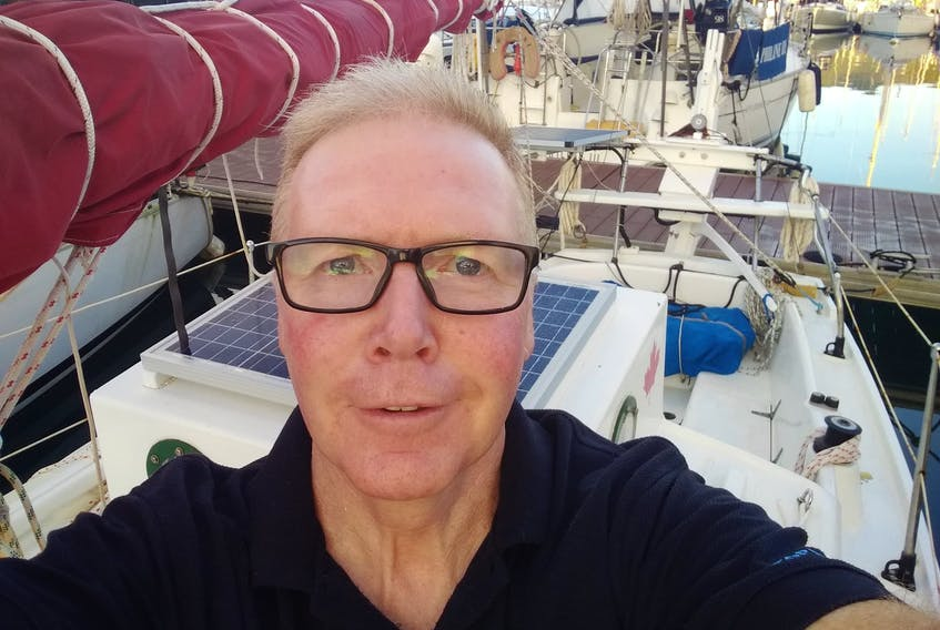 Summerside's Alan Mulholland has been forced to cancel his around the world voyage after a mid-Atlantic incident injured him and damaged his vessel, Wave Rover.